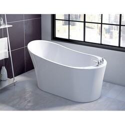 FLEURCO BZCO5931-18 CONCERTO PETITE 59 INCH SPECIALTY BATHTUB IN WHITE WITH DRAIN COVER