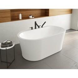 FLEURCO BZLI5931-18 LIBRETTO PETITE 59 INCH OVAL BATHTUB IN WHITE WITH DRAIN COVER