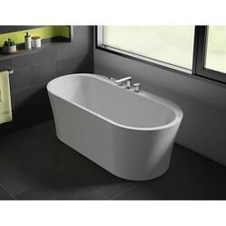 FLEURCO BZLI6731-18 LIBRETTO GRANDE 67 INCH OVAL BATHTUB IN WHITE WITH DRAIN COVER