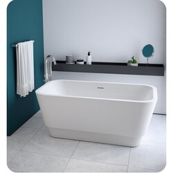 FLEURCO BZME5931-18 MEDLEY PETITE 59 INCH RECTANGULAR BATHTUB IN WHITE