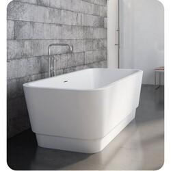 FLEURCO BZME6731-18 MEDLEY GRANDE 67 INCH RECTANGULAR BATHTUB IN WHITE