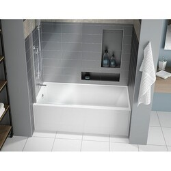 FLEURCO BZMO6030-18 MOTIF 60 INCH RECTANGULAR BATHTUB IN WHITE