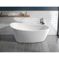 FLEURCO BZVE6731-18 VERISMO GRANDE 67 INCH SPECIALTY BATHTUB IN WHITE WITH DRAIN COVER