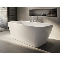 FLEURCO BZWA5931-18 WALTZ PETITE 59 INCH RECTANGULAR BATHTUB IN WHITE WITH DRAIN COVER