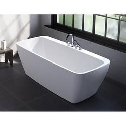 FLEURCO BZWA6731-18 WALTZ GRANDE 67 INCH RECTANGULAR BATHTUB IN WHITE WITH DRAIN COVER