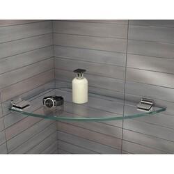 FLEURCO GSK17S 17-3/8 INCH SQUARE LARGE CORNER GLASS SHELF