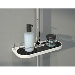 FLEURCO VD1105-18-11 DOMUS 11 INCH SHELF WITH ADAPTER IN WHITE/CHROME