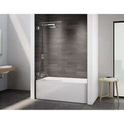 FLEURCO VMSXTO29-40 SELECT SOLO 29 W X 63 H INCH WALK-IN SQUARE TOP TUB PANEL WITH RECTANGULAR HINGES AND 3/8 INCH CLEAR GLASS