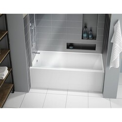 FLEURCO BMU6032-18 MUSE 60 INCH RECTANGULAR BATHTUB IN WHITE