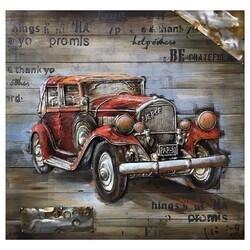 YOSEMITE 3130051 32.28 X 32.28 INCH RED VINTAGE CAR
