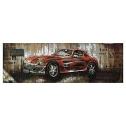 YOSEMITE 3130054 61.02 X 21.65 INCH RED VINTAGE CAR II