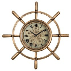 YOSEMITE 5120011 SHIP'S WHEEL WALL MOUNT CLOCK