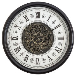 YOSEMITE 5140030 CLASSIC CHIC WALL MOUNT CLOCK WITH GEARS