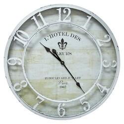 YOSEMITE 5140015 L'HOTEL DES FLEURS WHITE WALL MOUNT CLOCK