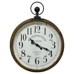 YOSEMITE 5140016 KENSINGTON STATION POCKET WATCH STYLE WALL MOUNT CLOCK