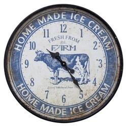 YOSEMITE 5140020 ICE CREAM FARM BLUE WALL MOUNT CLOCK