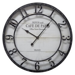 YOSEMITE 5140024 CAFÉ DE PARIS SHIPLAP WALL MOUNT CLOCK