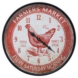 YOSEMITE 5140021 FARMERS MARKET RED WALL MOUNT CLOCK