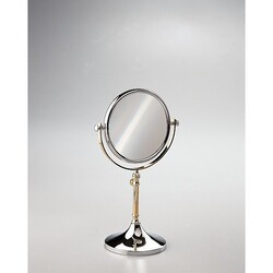 WINDISCH 99104 STAND MIRRORS FREE STANDING BRASS MIRROR WITH MAGNIFICATION