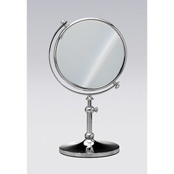 WINDISCH 99111 STAND MIRRORS FREE STANDING BRASS MIRROR WITH 3X MAGNIFICATION