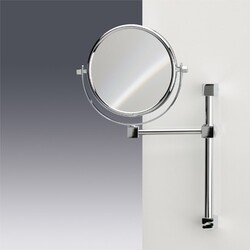WINDISCH 991402 DOUBLE FACE MIRRORS WALL MOUNTED DOUBLE FACE BRASS MAGNIFYING MIRROR