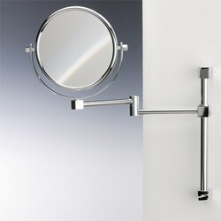 WINDISCH 991403 DOUBLE FACE MIRRORS BRASS WALL MOUNTED DOUBLE FACE MAGNIFYING MIRROR