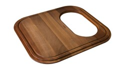 FRANKE GN20-45SP EUROPRO SOLID WOOD CUTTING BOARD WITH POLISHED STAINLESS STEEL COLANDER