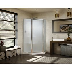 FLEURCO FNAS36HY-40 MONTREAL NEO 35-36 W X 70 H INCH NEO-ANGLE PIVOT DOOR WITH 5/32 INCH CLEAR GLASS