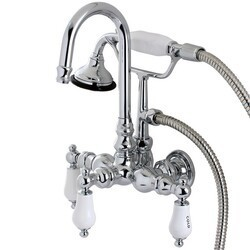 KINGSTON BRASS AE10T1 VINTAGE WALL MOUNT CLAWFOOT TUB FAUCET IN CHROME