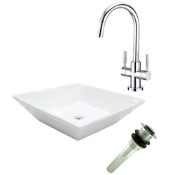 KINGSTON BRASS EV4256S829 PERFECTION VESSEL SINK WITH CONCORD SINK FAUCET AND DRAIN COMBO