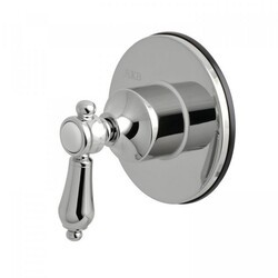 KINGSTON BRASS KS3031BAL THREE-WAY DIVERTER VALVE WITH SINGLE HANDLE AND ROUND PLATE IN POLISHED CHROME