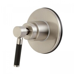 KINGSTON BRASS KS3038DKL CONCORD THREE-WAY DIVERTER VALVE WITH SINGLE HANDLE AND ROUND PLATE IN BRUSHED NICKEL