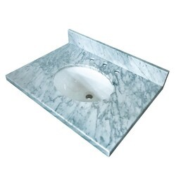 KINGSTON BRASS KVPB3022M38 FAUCETURE TEMPLETON CARRARA MARBLE VANITY WITH TOPS WITH 17 X 14 INCH UNDER MOUNT SINK