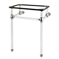 KINGSTON BRASS VAH282033 FAUCETURE TEMPLETON CONSOLE BASIN HOLDER WITH ACRYLIC PEDESTAL