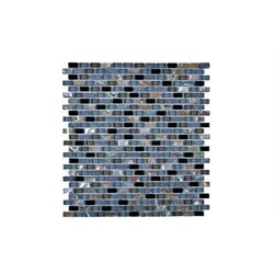 LEGION FURNITURE MS-MIXED17 MOSAIC MIX WITH STONE-SF IN GRAY/BLUE/BLACK