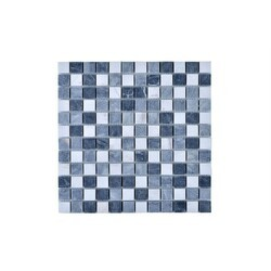 LEGION FURNITURE MS-STONE02 MOSAIC WITH STONE IN GRAY/OFF WHITE