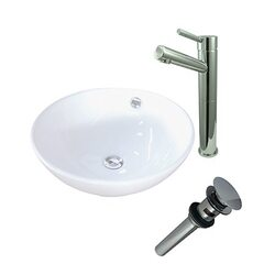 KINGSTON BRASS EV4129S84 PERFECTION VITREOUS CHINA BASIN WITH SINK FAUCET AND DRAIN COMBO