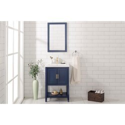 LEGION FURNITURE WLF9024-B 24 INCH KD BLUE SINK VANITY IN BLUE