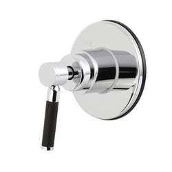 KINGSTON BRASS KS3031DKL CONCORD THREE-WAY DIVERTER VALVE WITH SINGLE HANDLE AND ROUND PLATE IN POLISHED CHROME