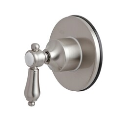KINGSTON BRASS KS3038BAL THREE-WAY DIVERTER VALVE WITH SINGLE HANDLE AND ROUND PLATE IN BRUSHED NICKEL