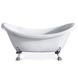 Eviva EVTB4303-59WH Stella 59 Inch White Acrylic Clawfoot Bathtub