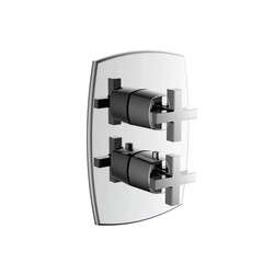 ISENBERG 240.4420 SERIE 240 3/4 INCH THERMOSTATIC VALVE WITH 2-WAY DIVERTER AND INTEGRATED VOLUME CONTROL AND TRIM
