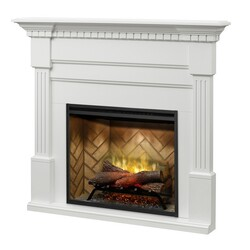 DIMPLEX BM3033-1801 CHRISTINA BUILTRITE 56-7/8 INCH ELECTRIC FIREPLACE MANTEL PACKAGE IN WALNUT