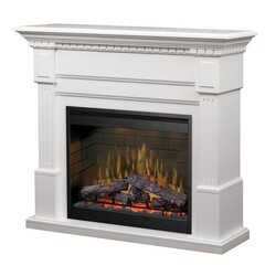 DIMPLEX GDS30L3-1086W ESSEX 54-7/8 INCH ELECTRIC FIREPLACE MANTEL PACKAGE IN WHITE