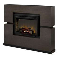 DIMPLEX GDS33HL-1310RG LINWOOD 65 1/2 INCH ELECTRIC FIREPLACE MANTEL PACKAGE IN RIFT GREY