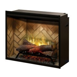 DIMPLEX RBF30 31 1/4 INCH REVILLUSION WALL MOUNT BUILT-IN ELECTRIC FIREPLACE