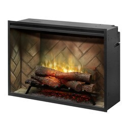 DIMPLEX RBF36 37 1/4 INCH REVILLUSION WALL MOUNT BUILT-IN ELECTRIC FIREPLACE