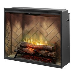 DIMPLEX RBF36P 37 1/4 INCH PORTRAIT REVILLUSION WALL MOUNT BUILT-IN ELECTRIC FIREPLACE