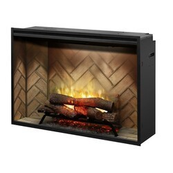 DIMPLEX RBF42 43 1/4 INCH REVILLUSION WALL MOUNT BUILT-IN ELECTRIC FIREPLACE