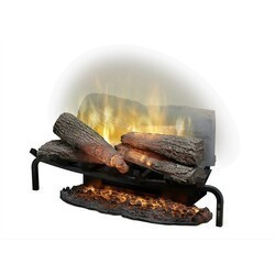 DIMPLEX RLG25 REVILLUSION 25-5/8 INCH TRADITIONAL ELECTRIC FIREPLACE LOG INSERT IN BLACK WITH ASHMAT